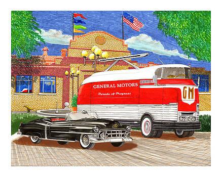 Jack Pumphrey - Motorama General Motors mobile showroom  on tour