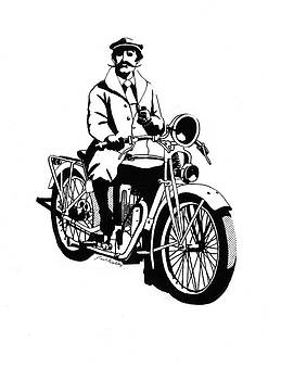 Motorcycle Gentleman by J W Kelly