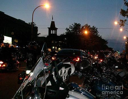 Gail Matthews - Motorcycle Night Parade at Americade
