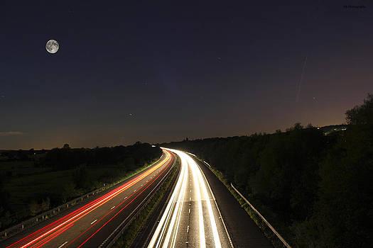 Motorway Light Trails by Jay Harrison