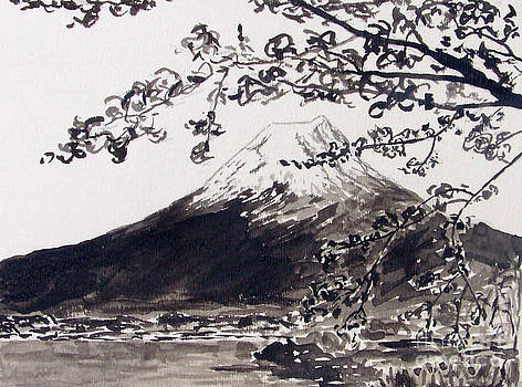 Mount Fuji Spring Blossoms by Kevin Croitz