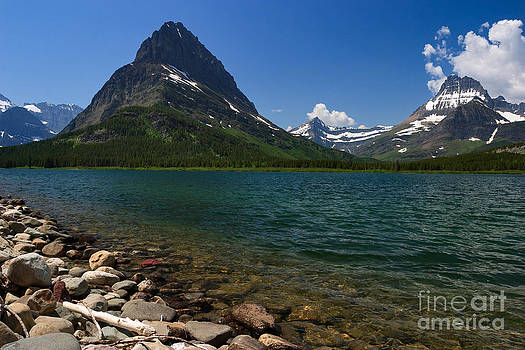Charles Kozierok - Mount Grinnell and Swiftcurrent Lake at Many Glacier