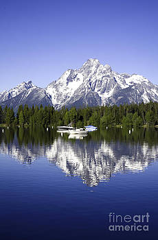 Mount Moran Reflected in Colter Bay by Carol Barrington