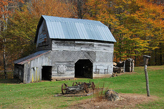 Mountain Farm Barn by Cecile Brion