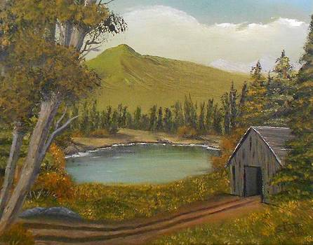 Mountain Line Shack by Sheri Keith