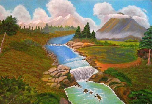 Mountain River by John Davis