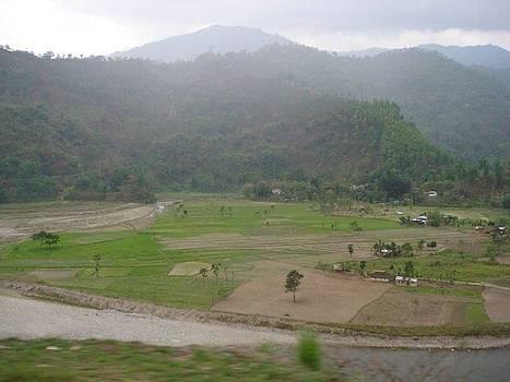 Mountain Side Scenery by Aparna Suriaraj