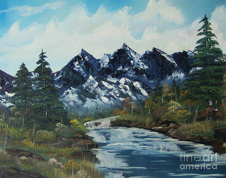 Mountain Stream by Edward C Van Wicklen Sr