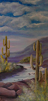 Mountain Stream by Shirley Watts
