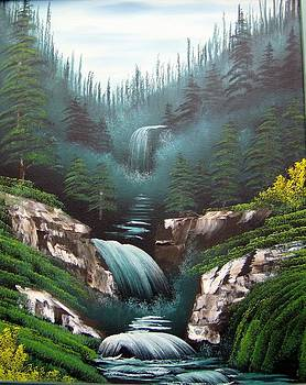 Mountain Waterfall by Debra Campbell