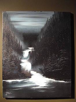 Mountain waterfall by Jim Carreau