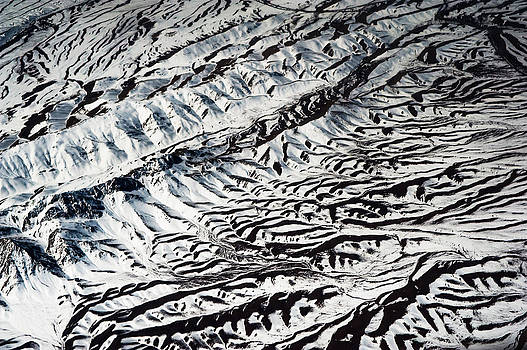 Jenny Rainbow - Mountains Patterns. Aerial View