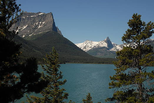 Moutains in Glacier National Park by Larry Moloney