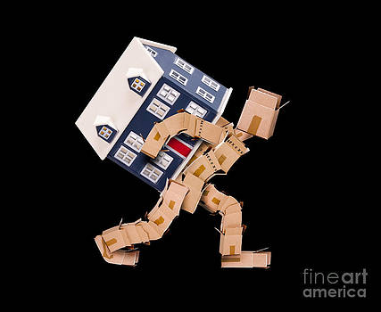 Moving house concept on black by Simon Bratt Photography LRPS