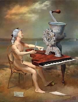 Mozart Fugue F Minor by Zia Art