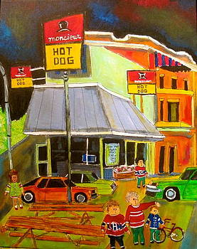 Mr Hot Dog Montreal Memories by Michael Litvack
