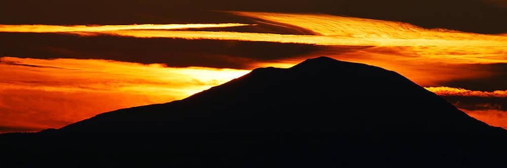 Mt Adams winter Sunset  by Duane King