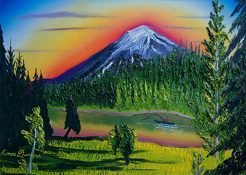Mt. Bachelor At Dusk Bend Oregon by Portland Art Creations