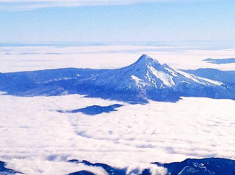 Nick Gustafson - Mt. Hood Above the Clouds