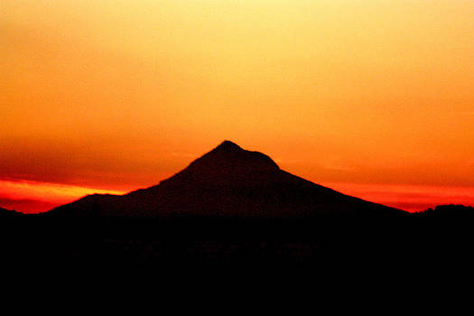 Nick Gustafson - Mt Hood Silhouette