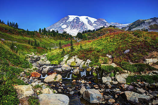 Mt. Rainier and Creek by Shawn Everhart