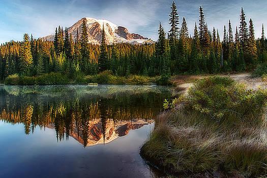 Mt. Rainier at Reflection Lake by Ray Still