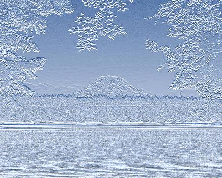 Mt. Rainier Over Squaxin Island II by Gayle Swigart