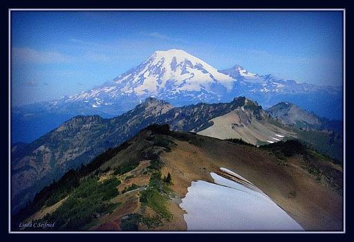 Mt Rainier w black border by Linda Seifried