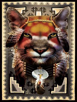 Mtn Lion Warrior by  Orlando Baca