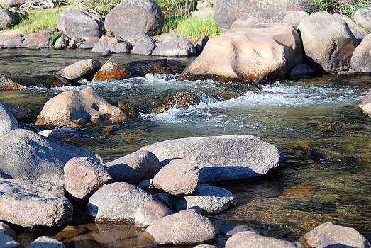 Mtn River Boulders by Vicki Coover