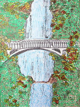 Marcia Weller-Wenbert - Multnomah Falls