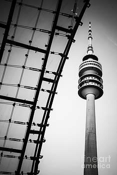 Hannes Cmarits - munich - olympiaturm and the roof - bw