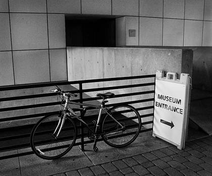 Museum Entrance and Bicycle by Rob Richardson