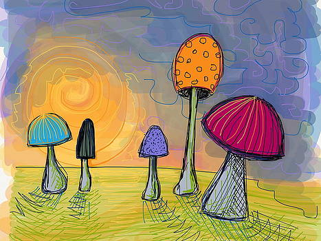 Mushrooms by Kate Fortin