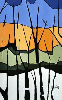 My Forest Tryptic 1 by John Chehak
