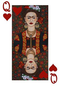 Frida Kahlo Queen of Hearts II  by Madalena Lobao-Tello