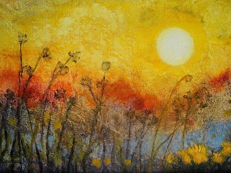 My Poem Sunset by Gudrun Hirsche