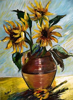 My Sunflowers by Arlen Avernian Thorensen
