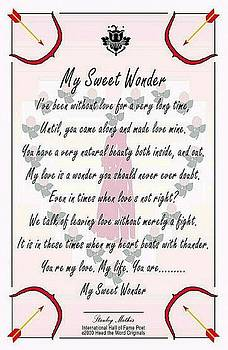 My Sweet Wonder Poetry Art Poster by Stanley Mathis