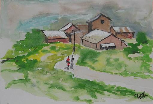 My Village-1 by Chandra Patil