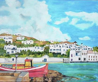 Mykonos in Greece by Teresa Dominici