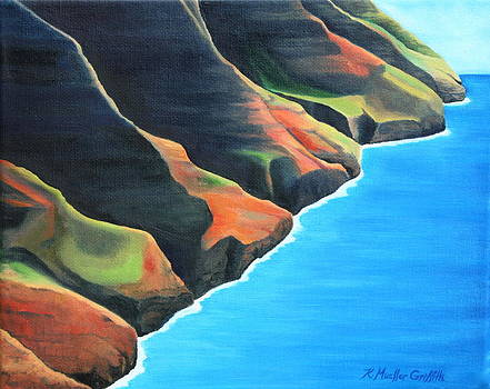 Na Pali Coastline by Kristine Mueller Griffith