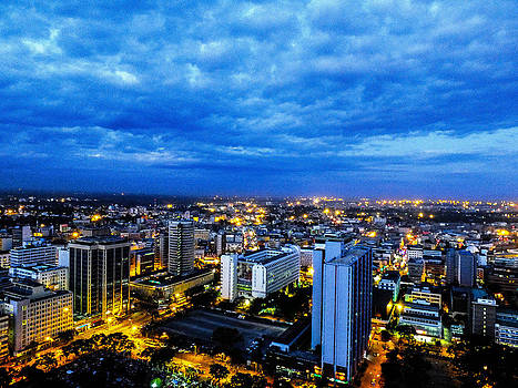 Nairobi Nights Blue Sky by Albert Ogetto