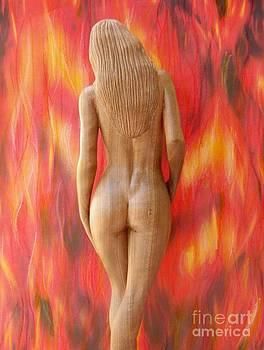 Naked Beauty - Walking into Fire by Carlos Baez Barrueto