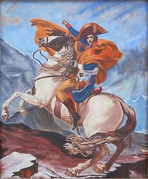 Napoleon on a Horse in the Alps by Renate Pampel