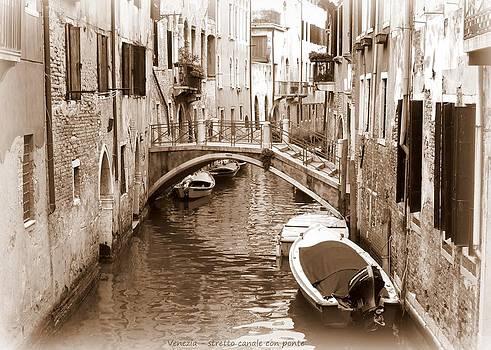 Bishopston Fine Art - Narrow Canal with Bridge