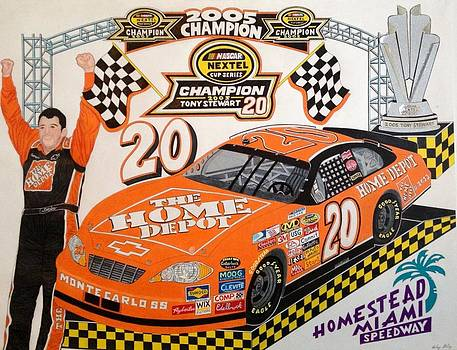 NASCAR 2005 champion smoke by Rodney Sterling