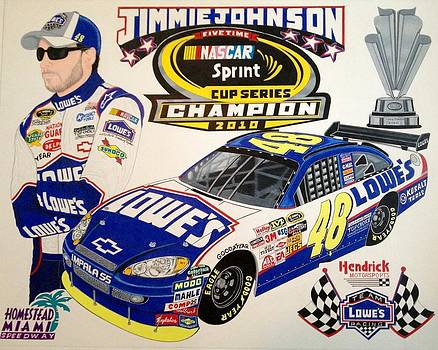 Nascar 2010 champion by Rodney Sterling