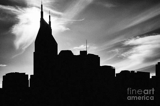 Nashville Skyline in Silhouette by Jeff Holbrook