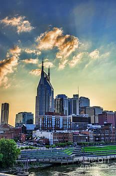Nashville Skyline Vertical Horizon by Photo Captures by Jeffery